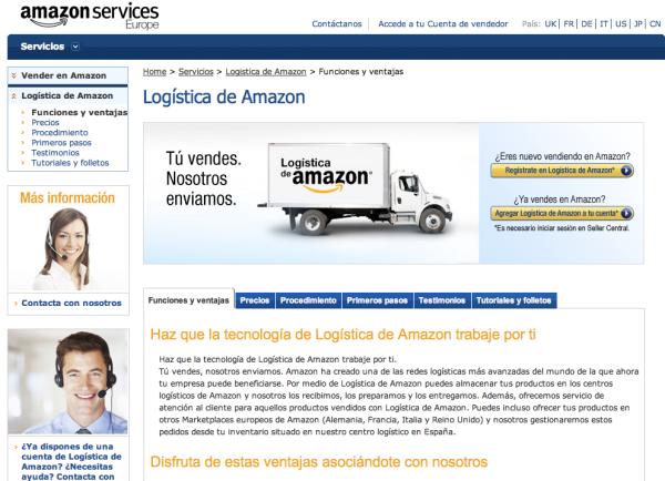 Amazón España ofrece su logística a terceros