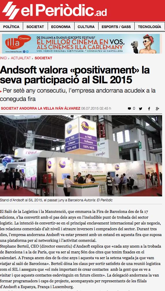 AndSoft Periódico de Andorra Jul 2015