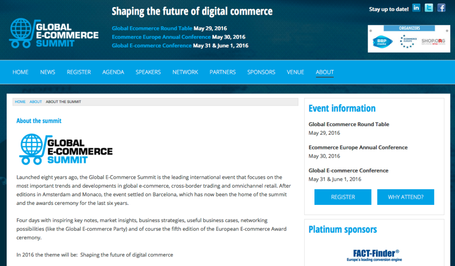 The biggest European platform for e-commerce policy makers and businesses