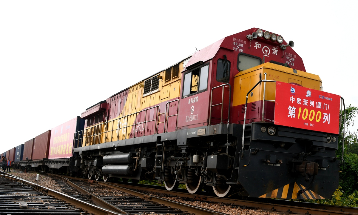China-EU freight train volume up 8% in July, boosting supply-chain stability